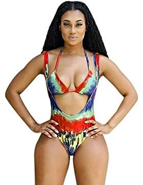 Costumi da Bagno Clode® Bikini Donna Set Push-up Imbottito Reggiseno Costume da bagno Costume da bagno Triangolo...