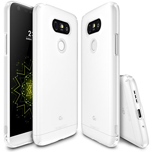 Cover LG G5 Ultra sottile in materiale duro (Bianco)