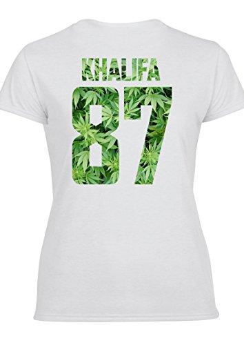 Khalifa 87 Damen T-Shirt & Weste T-Shirt (Entwurf auf der Rückseite)