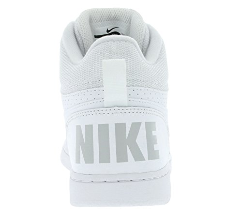 Nike Jungen Court Borough Mid (Gs) Basketballschuhe Elfenbein (White/white/white)