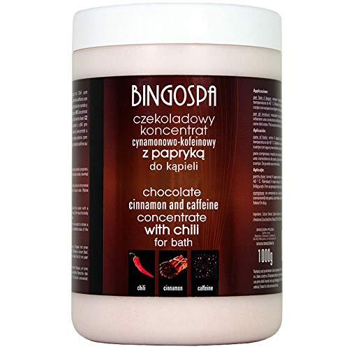 BINGOSPA Schokoladen-Zimt-Koffein Konzentrat mit Chili für Baden, Whirlpools, Solebäder und SPA - 1kg