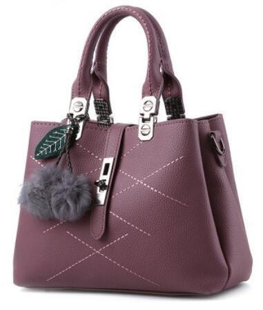 HQYSS Borse donna Borsa trendy classico dolce signora spalla Messenger , light gray red brown