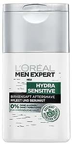 L'Oreal Men Expert Hydra Sensitive Birkensaft Aftershave, für empfindliche Haut, 2er Pack (2x125 ml)