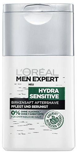 L'Oréal Men Expert Hydra Sensitive Birkensaft After Shave Fluid, 2er Pack (2 x 125 ml)