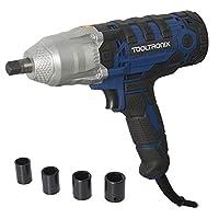 "ToolTronix Electric Impact Wrench Socket Kit 1/2"" Drive Corded Gun 320nm Torque"