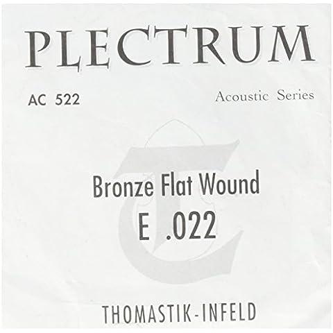 Thomastik AC522 PLECTRUM Acoustic Bronze, Flatwound (sin níquel), 12-string