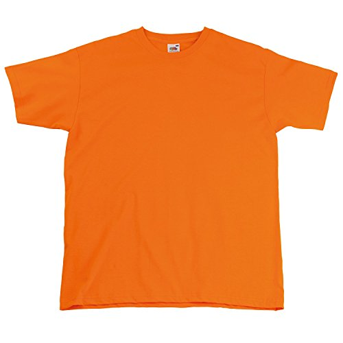 Fruite of the Loom Super Premium T-Shirt, vers.Farben Orange
