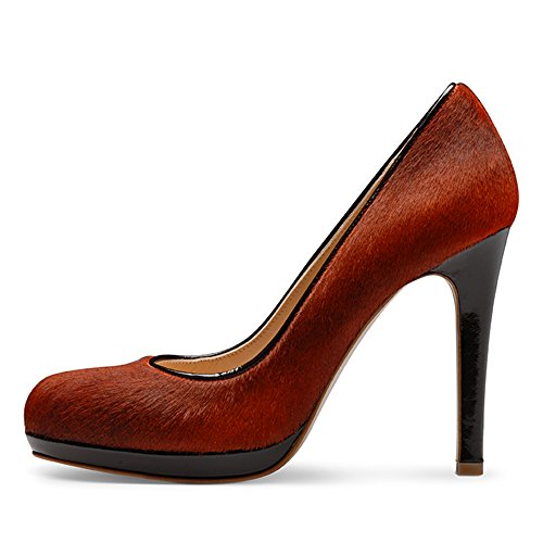 CRISTINA Damen Pumps Kalbshaar Orange