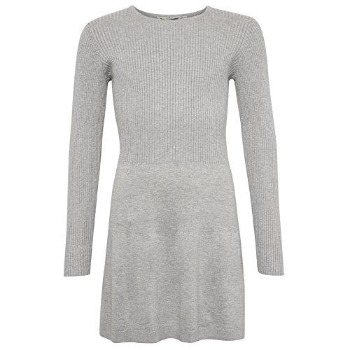 TOM TAILOR für Mädchen Kleider & Jumpsuits Kleid in Ripp-Optik light stone melange 164