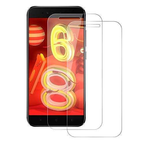 DOSNTO [2 Stück] Panzerglas für Mi A1, Schutzfolie mit 3D Touch Kompatibel,[9H Härte] [Anti-Bubble] [Hoch Transparent] [Anti-Fingerprint] 0.33mm Mi A1 Handy-Displayschutzfolie - Handys Mi