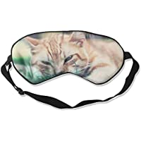 Eye Mask Eyeshade Cute Cat Grass Sleep Mask Blindfold Eyepatch Adjustable Head Strap preisvergleich bei billige-tabletten.eu