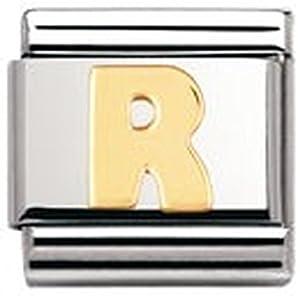 Nomination Composable Classic Buchstaben Edelstahl und 18K-Gold (R) 030101