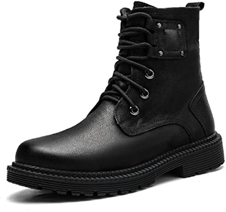 Herren Herbst Winter Warm halten Martin Stiefel Draussen Lässige Schuhe Schutzfuß Plus Kaschmir Schneestiefel