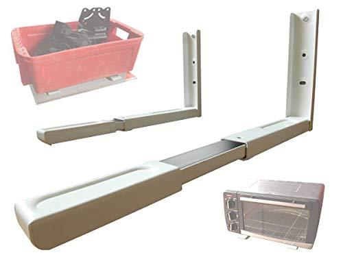 Wandhalterung - MIKROWELLE BLURAY- DVD-PLAYER SATELLITEN RECEIVER HIFI ANLAGE KONSOLE (passt für SAMSUNG PHILIPS SONY LG PANASONIC GRUNDIG ACER THOMSON TELEFUNKEN BLAUPUNKT TOSHIBA - LED LCD TFT Plasma Full-HD 3D Fernseher) - Wandregal Ablage - Weiß - Konsole Player Halterung Wandhalter Regal - Modell: H71 (Verwendet Sony Portable Dvd-player)