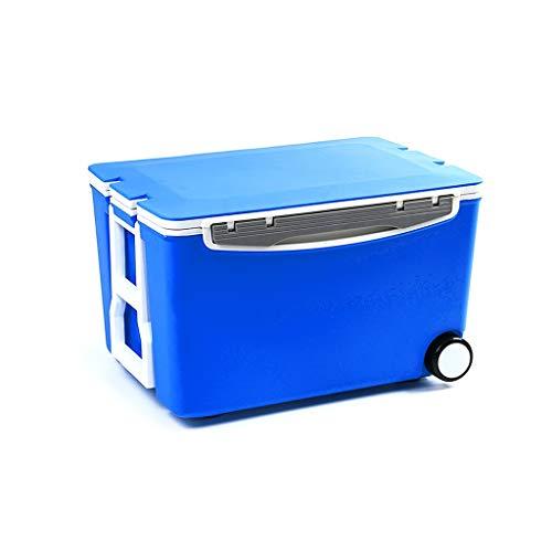 Boîte de rangement d'incubateur d'organisateur de coffre de voiture, boîte de rangement de nourriture de réfrigérateur extérieur, bacs de stockage multifonctionnels de ménage avec des roues