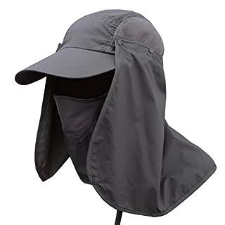 Summer Hats-Unisex Men Women Adjustable Packable Sun Hats Caps Floppy Beach Hats For Outdoors Biking Garden -360° Protection (Dark Gray)