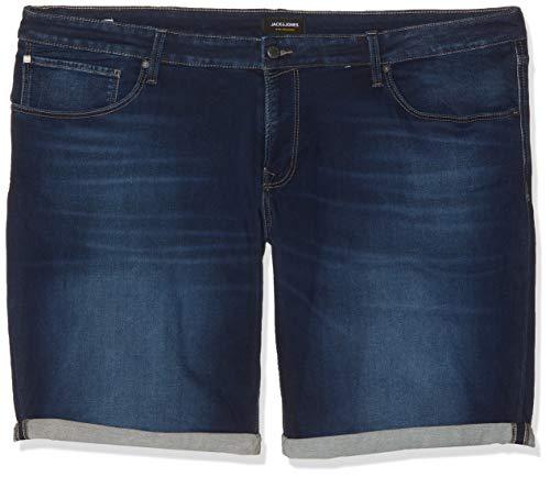 JACK & JONES Jjirick Jjicon Shorts GE 850 I.k. STS Plus Pantalones Cortos, Azul Blue Denim Blue Denim...