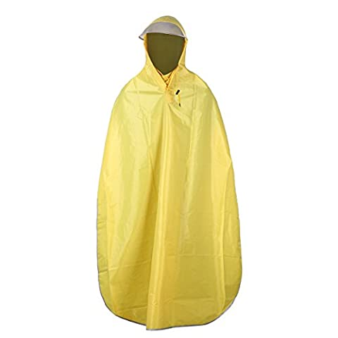 LUOEM Cycling Poncho Waterproof Raincoat Bike Rain Cape Yellow
