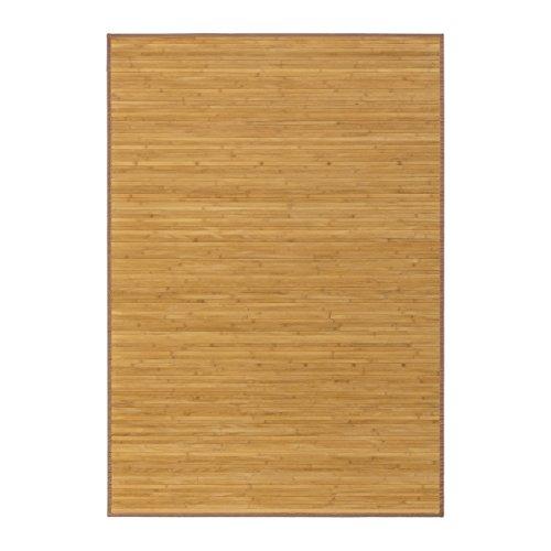 Alfombra pasillera industrial marrón de bambú de 140 x 200 cm Factor