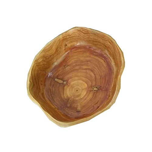 ERXCA Schüsseln Haushaltsobstschale Holz Mehrkorn Holz Candy Dish Trockenobstteller Tranchiertablett Holz Obstschale, B 6-zoll-candy Dish