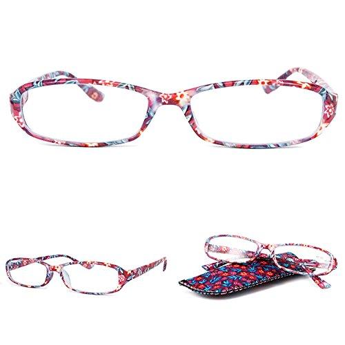 f4a389c90a VEVESMUNDO Gafas de Lectura Mujer Hombre Portatiles Flores Leer Graduadas  Vista Presbicia.