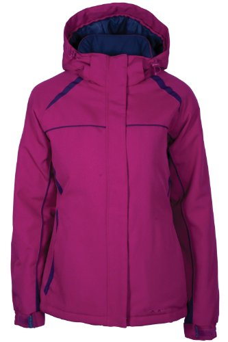 mountain warehouse north star women's ski jacket - insulated & fleece lined, snow proof fabric with integrated snow skirt & multiple pockets