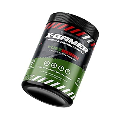 X-Gamer X-Tubz - Energy Drink - Gaming Booster Pulver - Shake It Yourself - 600g ( 60 servings ) (Fuzzberry)