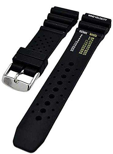 Uhrenarmband Silikon sportlich Taucher Diver 20mm SCHWARZ 3853