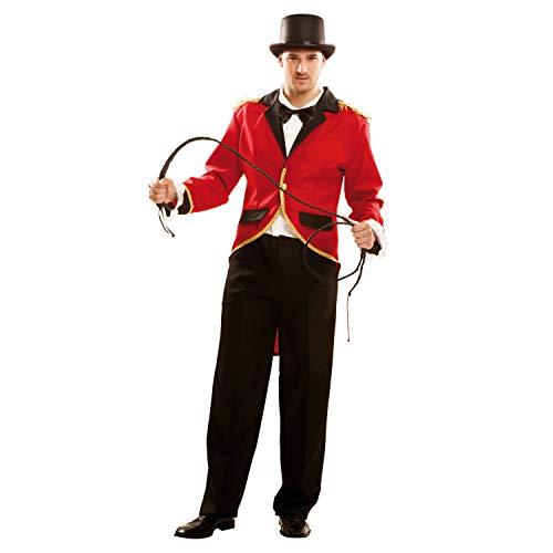 My Other Me Me-202000 Disfraz de presentador de circo para hombre Color oro M-L Viving Costumes 202000