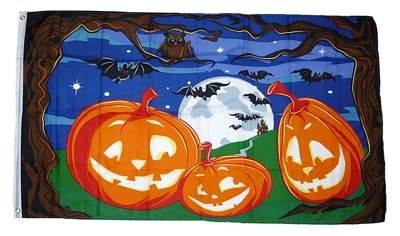 Fahne / Flagge Happy Halloween Fledermaus 90 x 150 cm