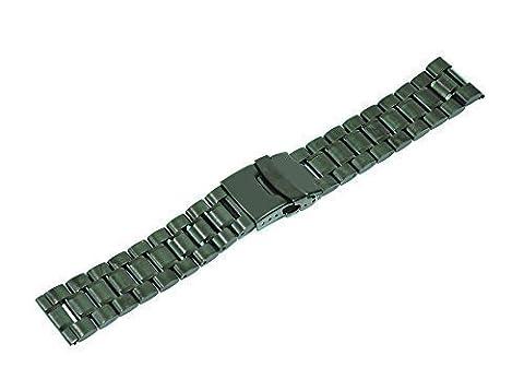 Mondpalast @ 20mm Noir Black Bande Montre Bracelet Watch Strap