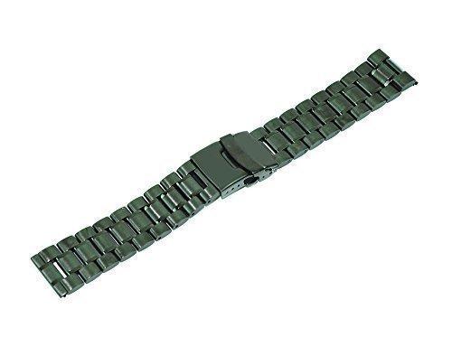 Mondpalast ® sostituzione Nero acciaio inox 22mm watch orologio cinturino braccialetto per LG G watch R , Asus Zenwatch...