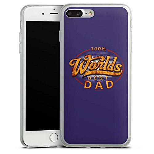 Apple iPhone X Slim Case Silikon Hülle Schutzhülle Worlds Best Dad Bester Vater Silikon Slim Case transparent