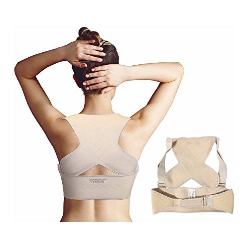 Comfortisse Posture - Brassière dorsale de maintien qui corrige instantanément votre position et soulage les tensions. (L/XL : 96-130 cm)