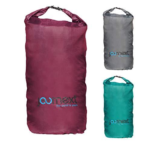 Journext 2 in 1 Rucksack Schutzhülle & Regenschutz, Schutzsack für Backpack, Schutz für Flugzeug, Bahn & Bus, Flight Bag (Bordeaux red, L)