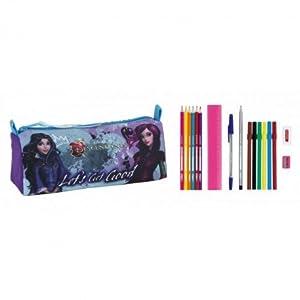 DESCENDANTS Estuche portatodo Lleno 17 Piezas, Color Negro y Rosa, 20 cm (SAFTA 811673708)