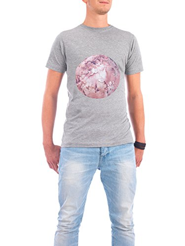 """Design T-Shirt Männer Continental Cotton """"Pluto mint"""" - stylisches Shirt Abstrakt Natur von Julia Hariri Grau"""