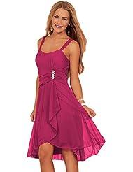 Juniors Sequins d'amoureux manches Layered Sheer partie de robe de soirée