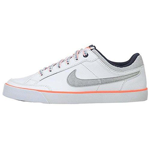 Nike Mädchen Capri 3 Ltr (Gs) Tennisschuhe Weiß / Silber / Schwarz (Weiß / Mtllc SLVR-Obsdn-brght M)