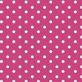 Baumwollstoff Punkte Pink Webware Meterware Popeline