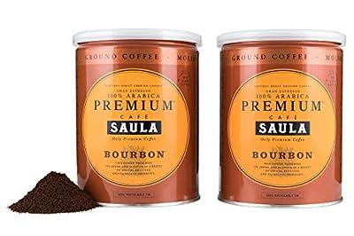 Premium Bourbon Ground Coffee - 100% Arabica Spanish Espresso Blend from Award Winning Café Saula 500g (2X 250g)