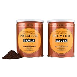Premium Bourbon Ground Coffee – 100% Arabica Spanish Espresso Blend from Award Winning Café Saula 500g (2X 250g)