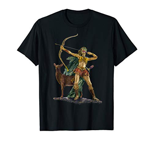 Göttin Grünen T-shirt (Artemis griechische Göttin der Jagd T-Shirt)