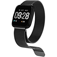 HuaWise Fitness Tracker,Activity Tracker with Heart Rate Monitor and Sleep Monitor,Bluetooth Waterproof Smart Watch,Step Counter Pedometer and Calorie Counter for Android and IOS