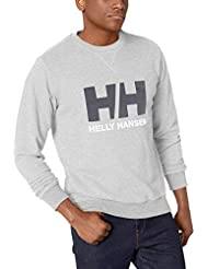 Helly Hansen Hh Logo Crew Sweat, Hombre, Grey Mélange, L