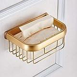 JIE Hauptdekoration-Retro- Art-pumpendes Papier-Regal, europäische Art-Luxus-Toiletten-pumpendes Papier-Regal, schroffer und Polierkupfer-Toilettenpapier-Halter, golden,golden