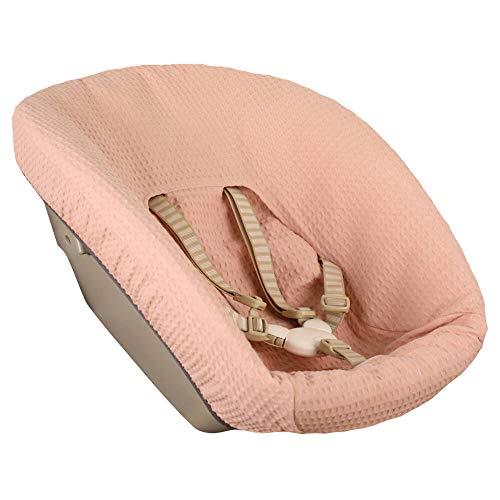 Bezug Stokke Tripp Trapp Newborn Set Farbe Altrosa Einfarbig Waffelpique Öko-Tex 100 Baumwolle Recycelbar Schweißabsorbierend und Weich für Ihr Baby