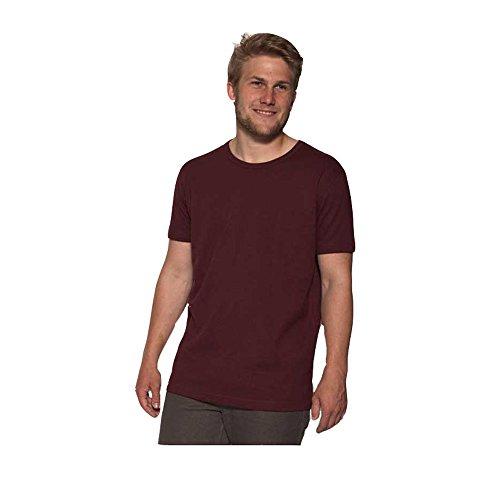 The Hemp Line Unisex Erwachsene Hanf T-Shirt, Farbe: Port, Gr.: XL (Erwachsene Bio-baumwolle T-shirt)