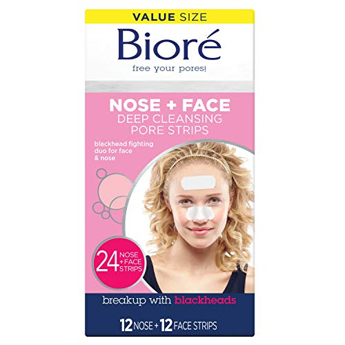Biore Deep Cleansing Pore Strips, 24 Count by KAO Brands -