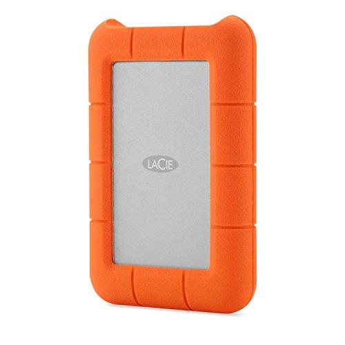 LaCie STFA4000400 4 TB Externe robuste Festplatte (6,4 cm (2,5 Zoll) Rugged Raid System 2x2 TB, Staub-, Stoss- und Spritzwasser- geschützt, USB 3.0) - Rugged Lacie Thunderbolt